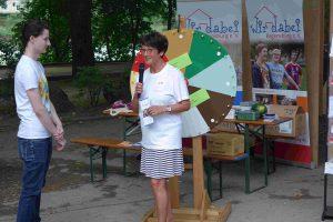 Uta auf dem Weg in den YouTube-Kanal von Special Olympics Bayern